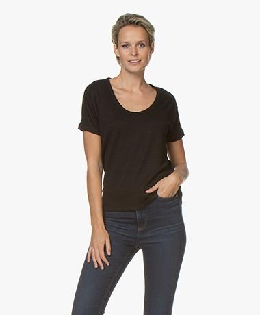 Rag & Bone Ramona Fine Knit T-shirt - Black