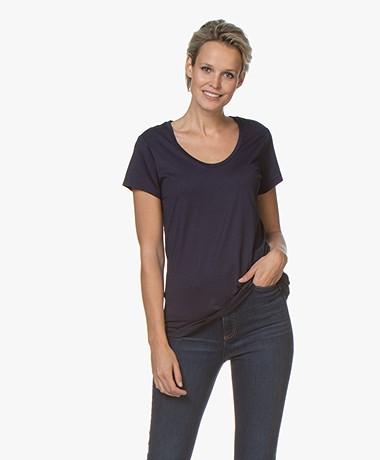 Denham Pacific Modalmix T-shirt - Navy