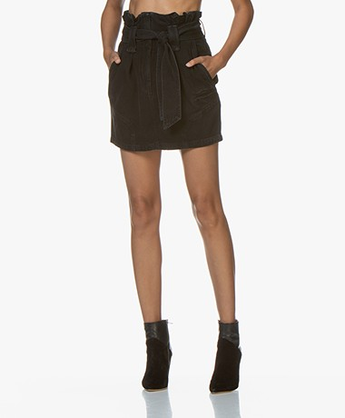IRO Hovy Denim Mini Paperbag Skirt - Black