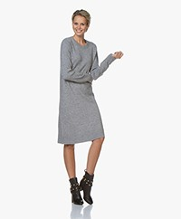 Repeat Fine Knitted Wool Blend Dress - Light Grey