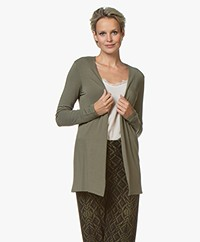 Majestic Filatures Soft Touch Jersey Cardigan - Army