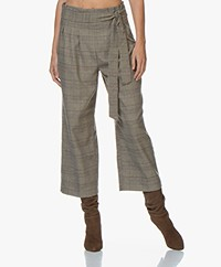 Marie Sixtine Emma Checkered Paperbag Culottes - Tartan