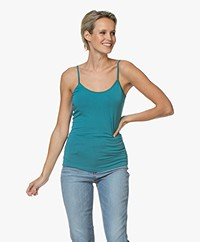 no man's land Viscose Singlet - Lagoon