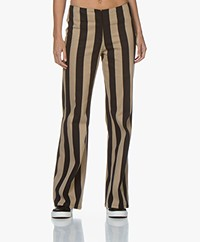 By Malene Birger Erika Gestreepte Broek - Night Sky/Camel