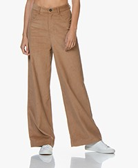 Marie Sixtine Gregory Loose-fit Corduroy Broek - Twig