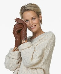 Filippa K Women Zip Gloves - Coconut Brown
