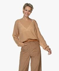 American Vintage Zoubi Delicate Oversized Sweater - Camel