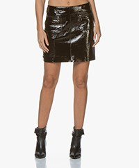 MKT Studio Jori Patent Leather Mini Skirt - Black