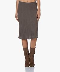 Belluna One Knitted Pleated Skirt - Marronne