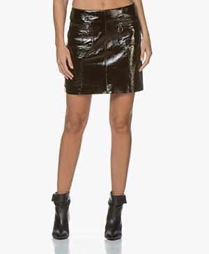 MKT Studio Jori Patent Leather Mini Skirt - Black