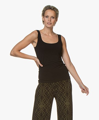 no man's land Basic Viscose Top - Core Black