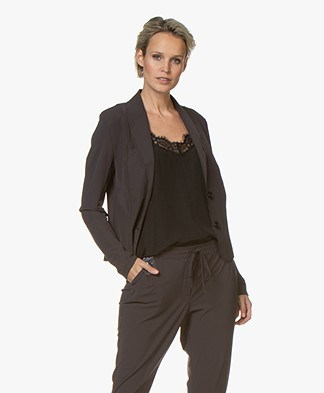 Josephine & Co Gieles Travel Jersey Blazer - Dark Brown