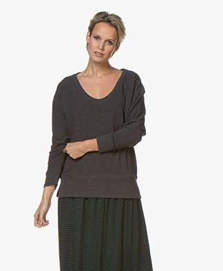 Denham Showa Scoop Neck Sweater - Charcoal