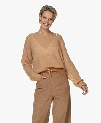 American Vintage Zoubi Delicate Oversized Sweater - Camel