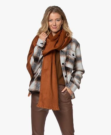 Alpaca Loca Handgemaakte Uni Sjaal in Alpaca - Rusty