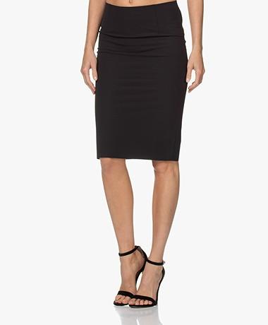 Woman by Earn Sterre Tech Jersey Pencil Skirt - Black