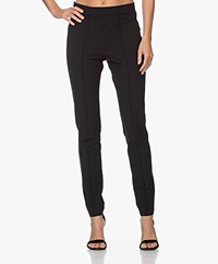 Josephine & Co Jerome Slim-fit Travel Jersey Pantalon - Zwart