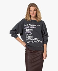 Anine Bing City Love Sweatshirt - Charcoal
