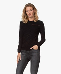 LaSalle Seamless Mesh Long Sleeve - Black