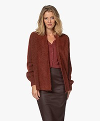 Repeat Open Cardigan in Alpaca and Mohair Blend - Terracotta