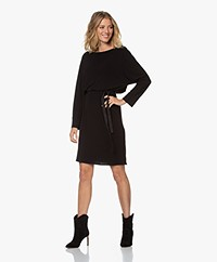 by-bar Hanna Interlock Crêpe Jersey Jurk - Zwart