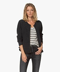 Sibin/Linnebjerg Lotus Merino Blend Zipper Cardigan - Anthracite