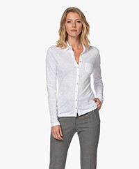 Belluna Marlo Cotton Blend Jersey Blouse - White