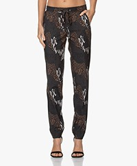 LaDress Valencia Travel Jersey Print Broek - Jungle