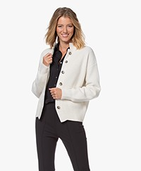 Josephine & Co Julia Merino Blend Button-through Cardigan - Off-white
