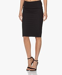 Woman by Earn Sterre Tech Jersey Pencil Skirt - Black