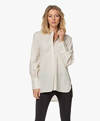 By Malene Birger Martigues Cotton Pinstripe Blouse - Soft White