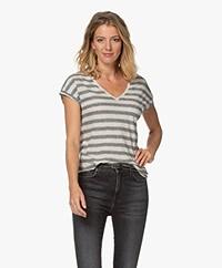 by-bar Mila Striped Linen Blend T-shirt - Linen