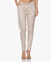 Josephine & Co Joseph Stretch Suèdine Broek - Zand