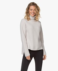Woman by Earn Annet Cashmere Blend Ribbed Pullover - Sand