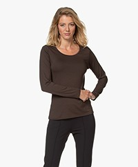 no man's land Viscose Longsleeve - Espresso