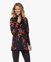 JapanTKY Koda Travel Jersey Print Blouse - Tropical Leaf