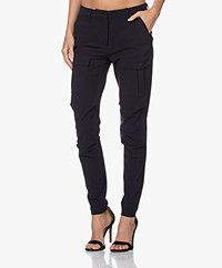 Woman by Earn Elve Tech Jersey Utlitiy Pants - Navy