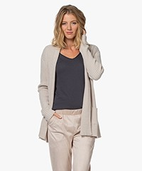 Belluna Donna Inverno Open Ribbed Cardigan - Latte