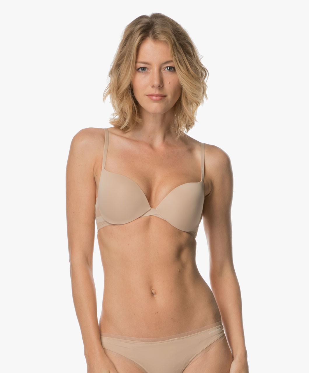 ef042a2ee9ed9 Calvin Klein Sculpted Plunge Push-up Bra - Bare - qf1832e 20n - bare