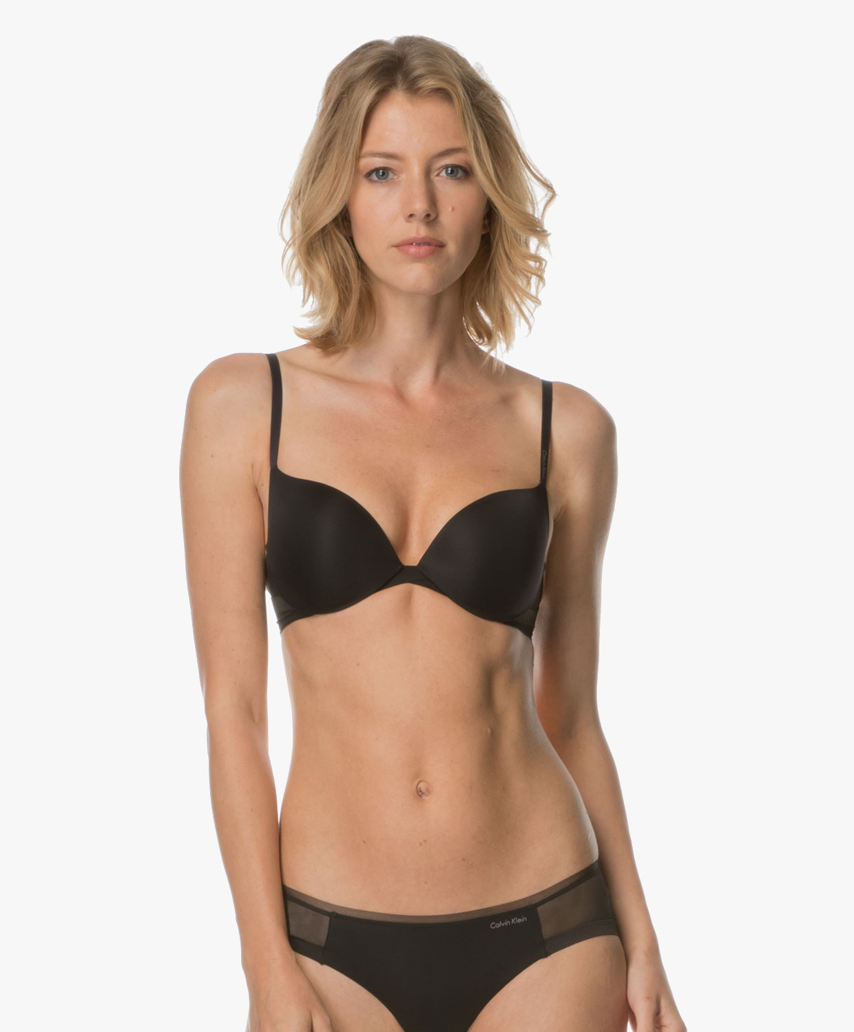 Calvin Klein Sculpted Plunge Push-up Bra - Black
