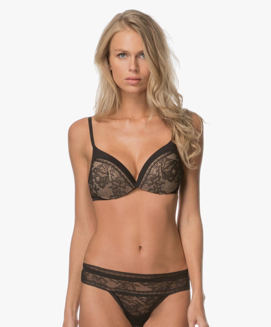 1ed3df8748523 Calvin Klein Black Obsess Push Up Plunge Bra - Black - qf1941e 001
