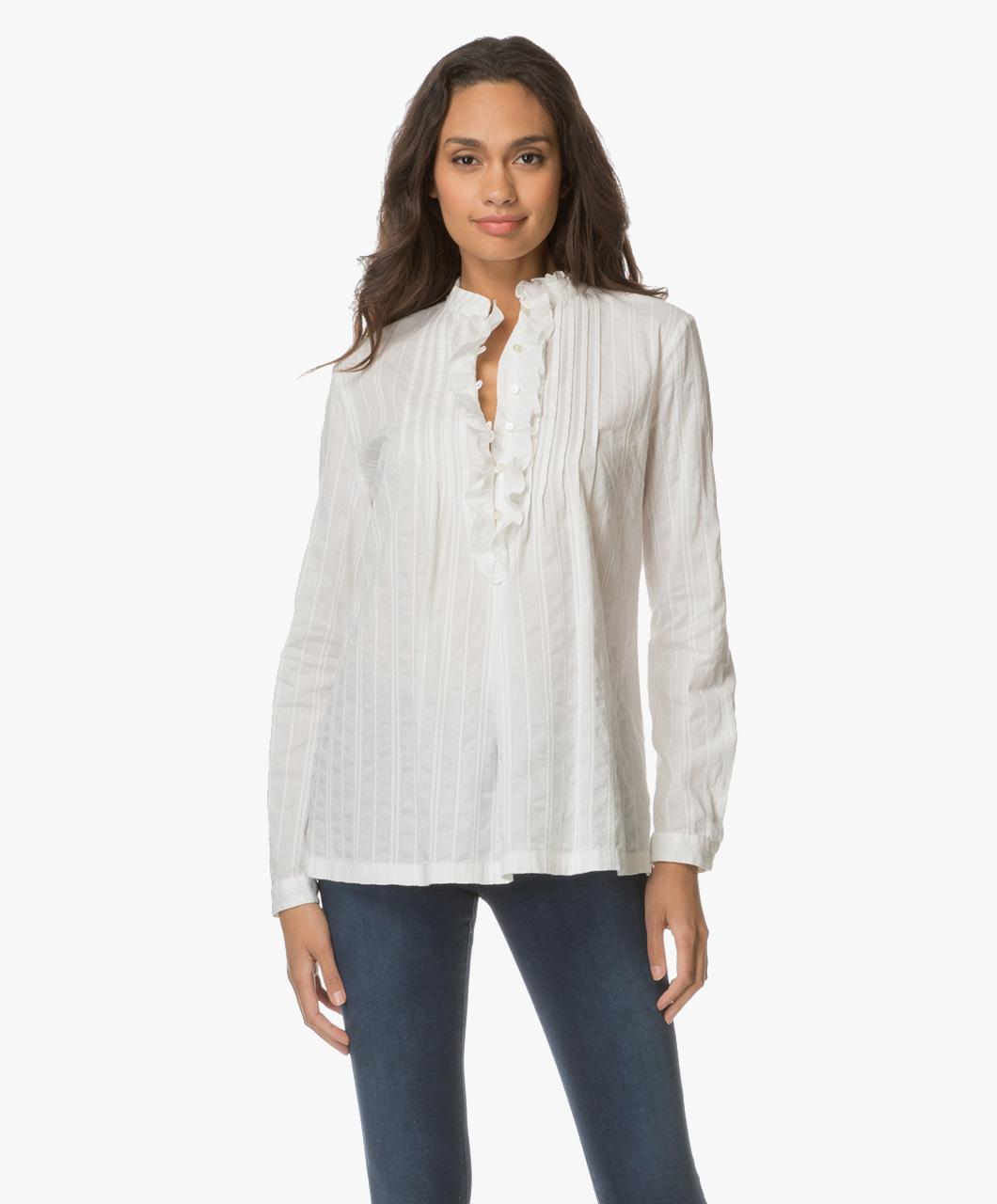 boss orange cubana crisp pleats blouse white cubana 50377979 115 open. Black Bedroom Furniture Sets. Home Design Ideas