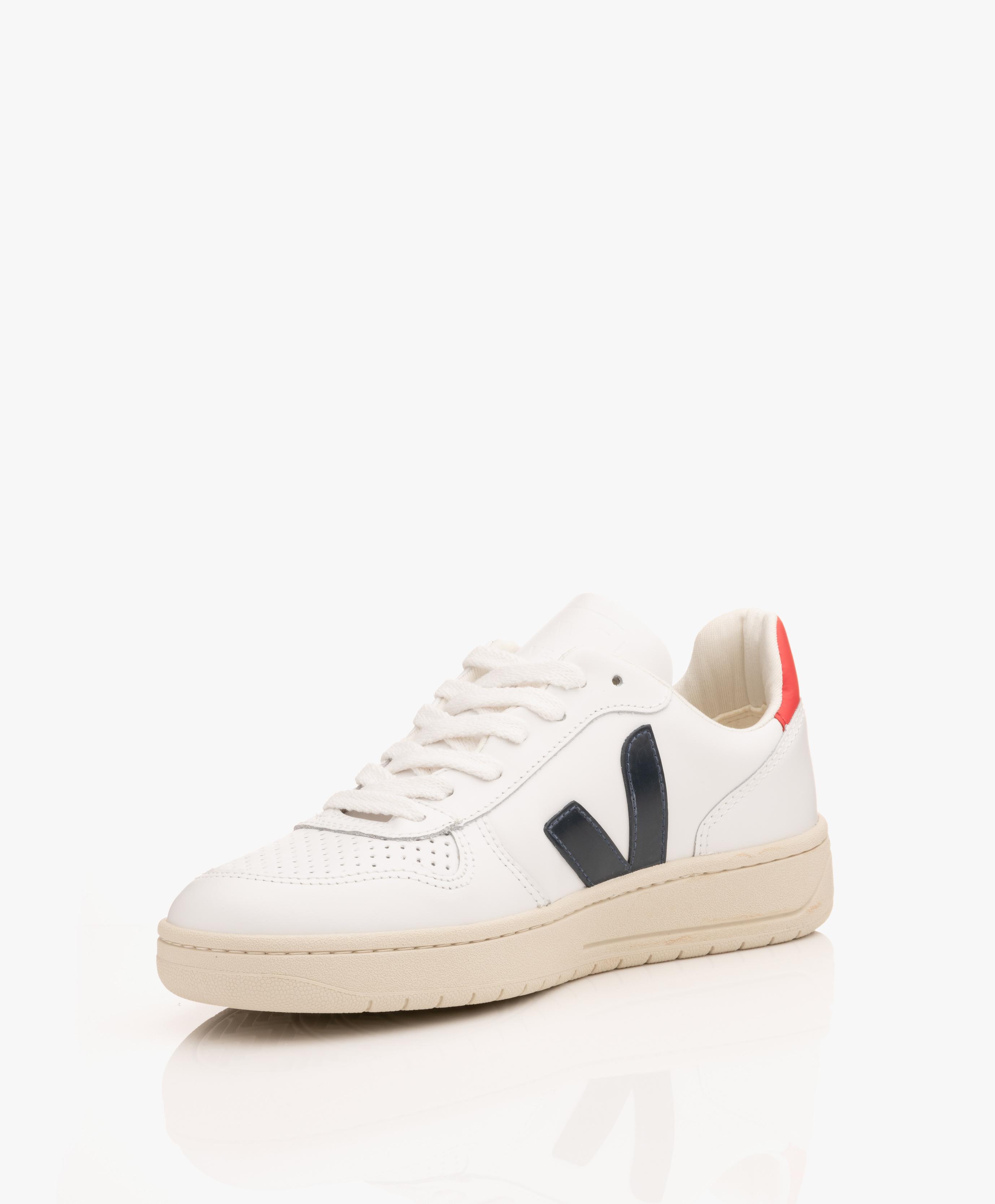 df8fadf8aeb3 VEJA V-10 Leather Sneakers - Extra White Nautico Pekin - v-10 vx021267