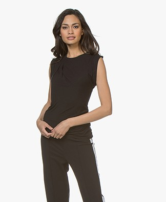 Majestic Filatures Sleeveless Viscose T-shirt - Black