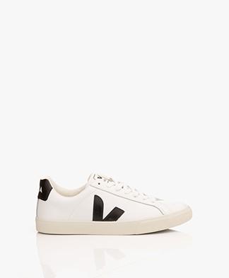 VEJA Esplar Low Logo Leather Sneakers - Extra White/Black