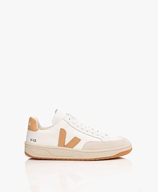 VEJA V-12 B-Mesh Sneakers - White Desert/Camel