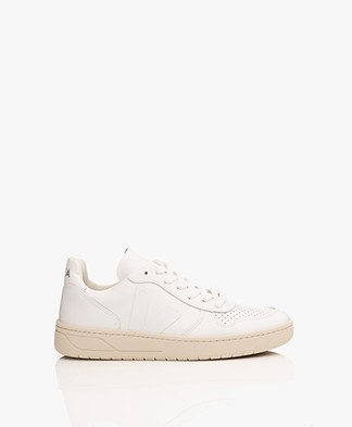 VEJA V-10 Leather Sneakers - Extra White