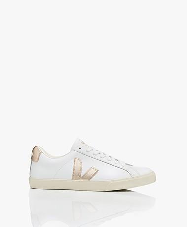 VEJA Esplar Low Logo Leren Sneakers - Wit/Platine