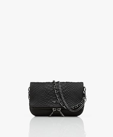 Zadig & Voltaire Rock Nano Savage Leather Shoulder Bag/Clutch - Black