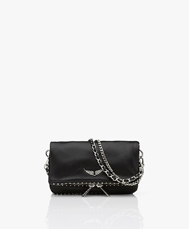Zadig & Voltaire Rock Nano Leather Studs Shoulder Bag/Clutch - Black